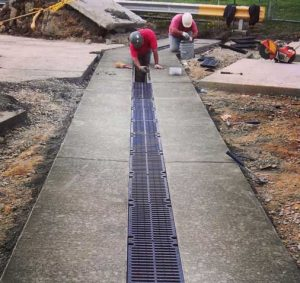 commercial-trench-drain-grates-install