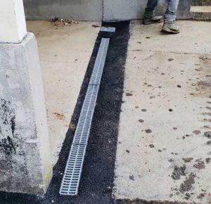 residential-garagr-trench-drain-install